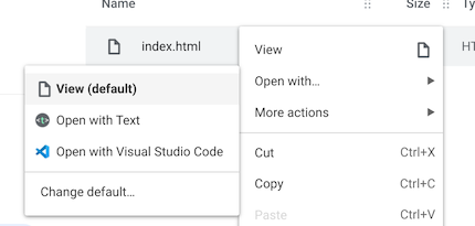 An image showing the Open folder button in VS Code