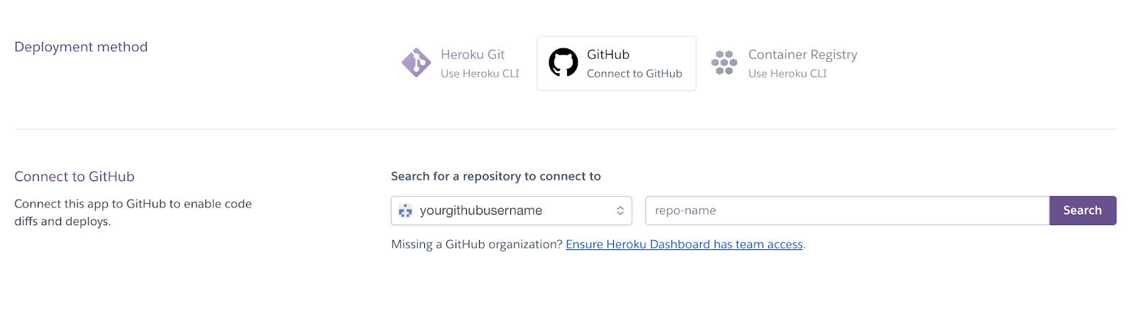 Heroku Deploy From GitHub