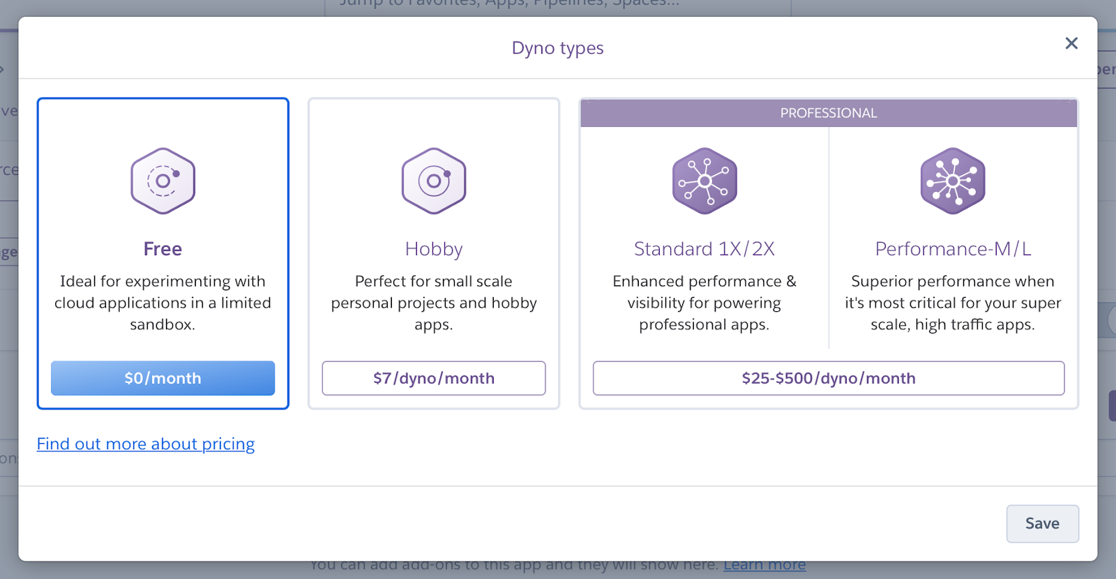 Heroku Dyno Pricing