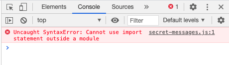 Uncaught SyntaxError: Cannot use import statement outside a module
