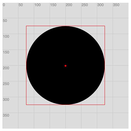 Example of ellipseMode(CENTER)