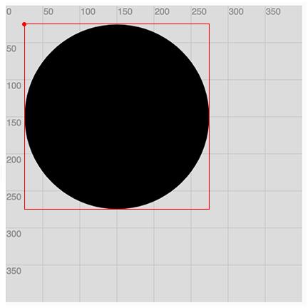 Example of ellipseMode(CORNER)