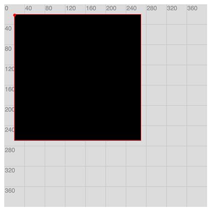 Example of rectMode(CORNER)