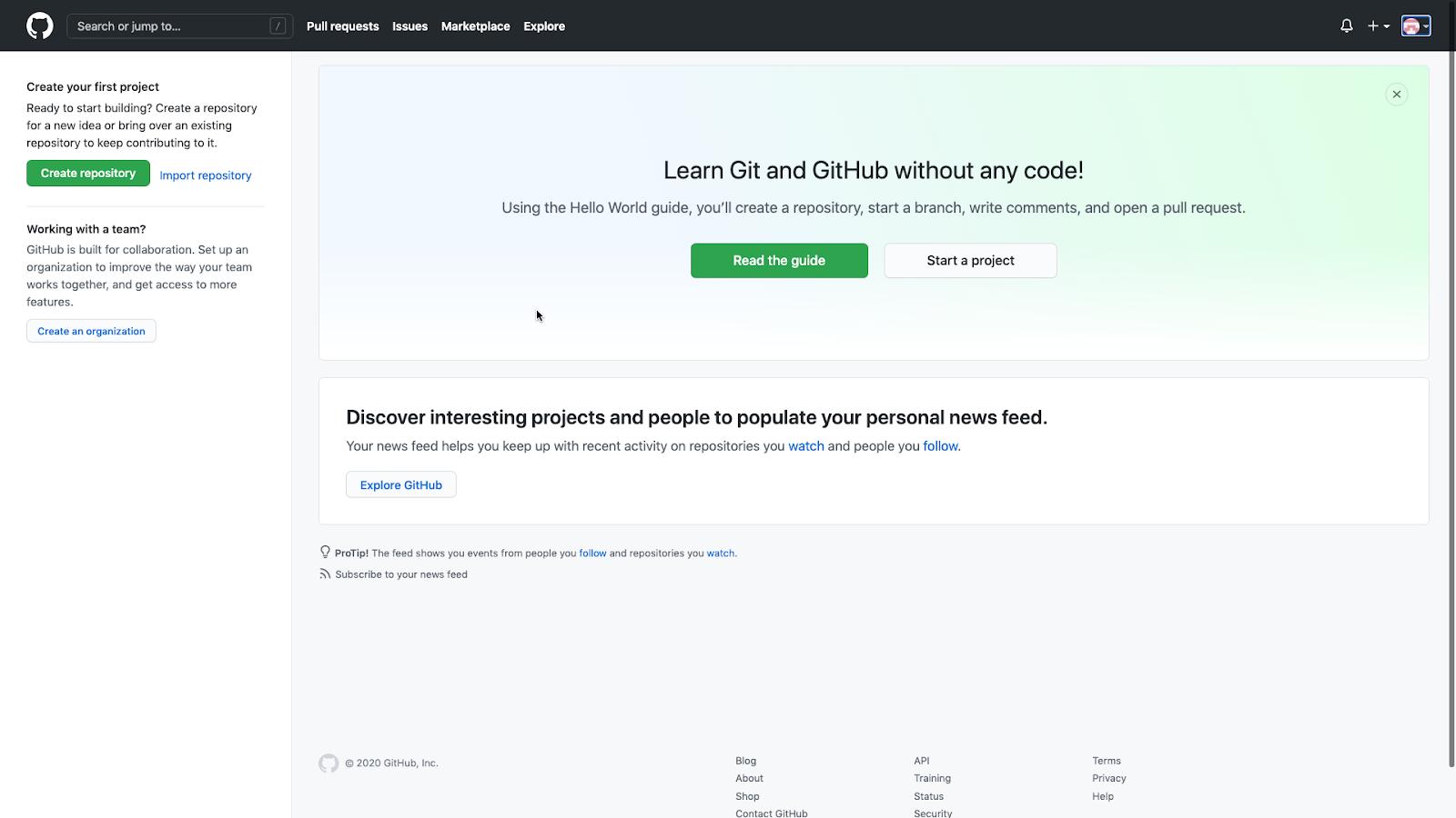GitHub personal dashboard