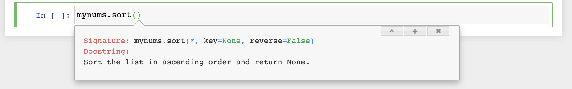 docstring for the .sort() function, shows that .sort() takes an optional reverse=True argument