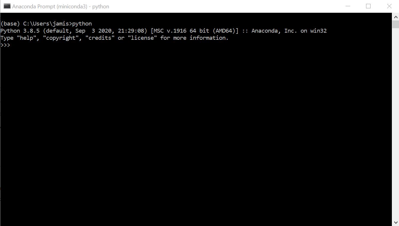 "terminal showing python version ""Python 3.8.5"""