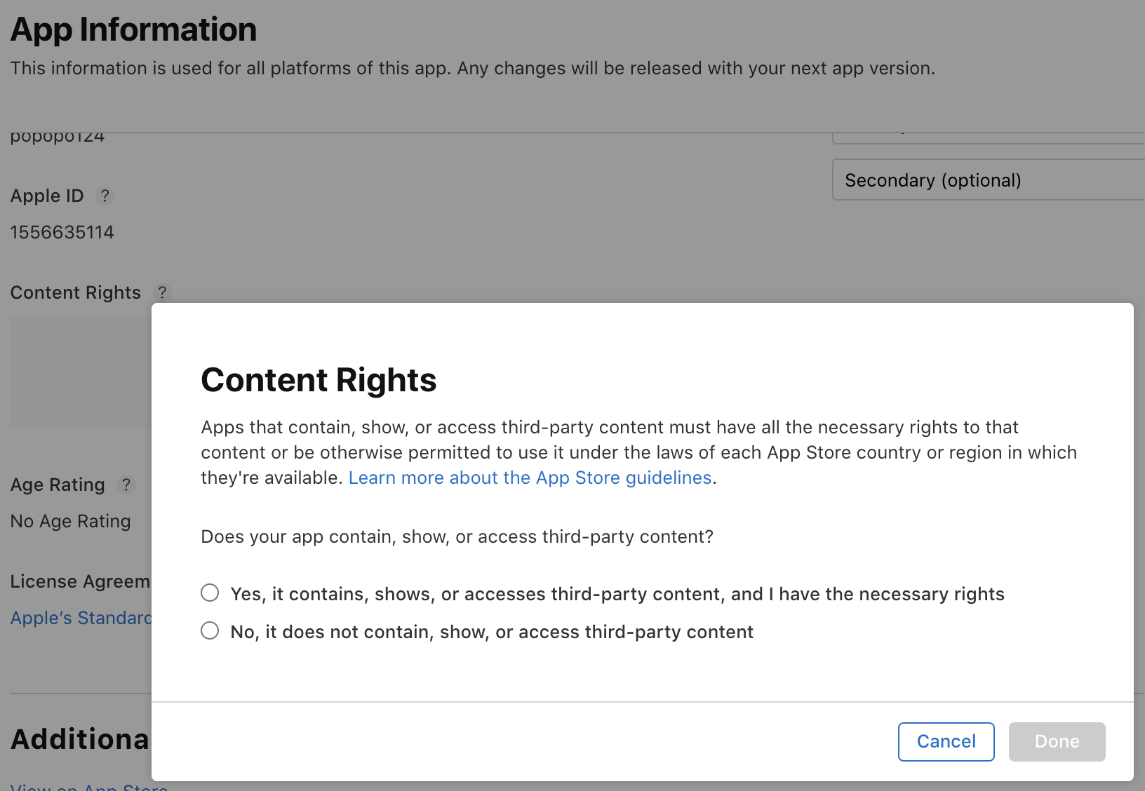 Content rights