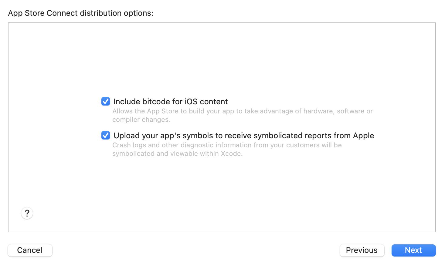 Bitcode Options