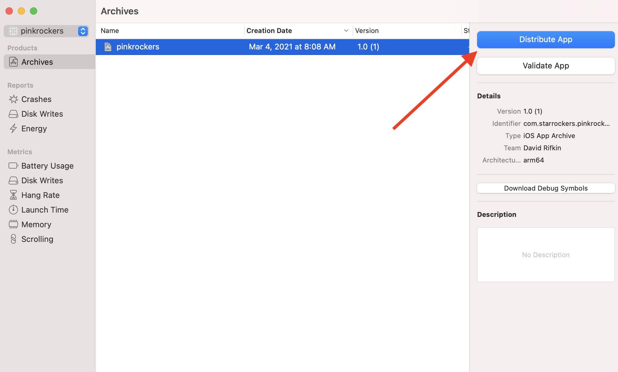 Organizer distribute app button