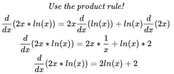 The final answer is 2ln(x)+2]