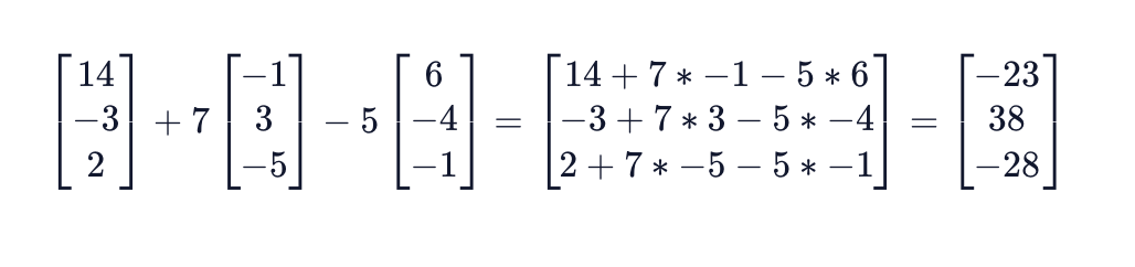 The final answer is v = [-23, 38, -28]